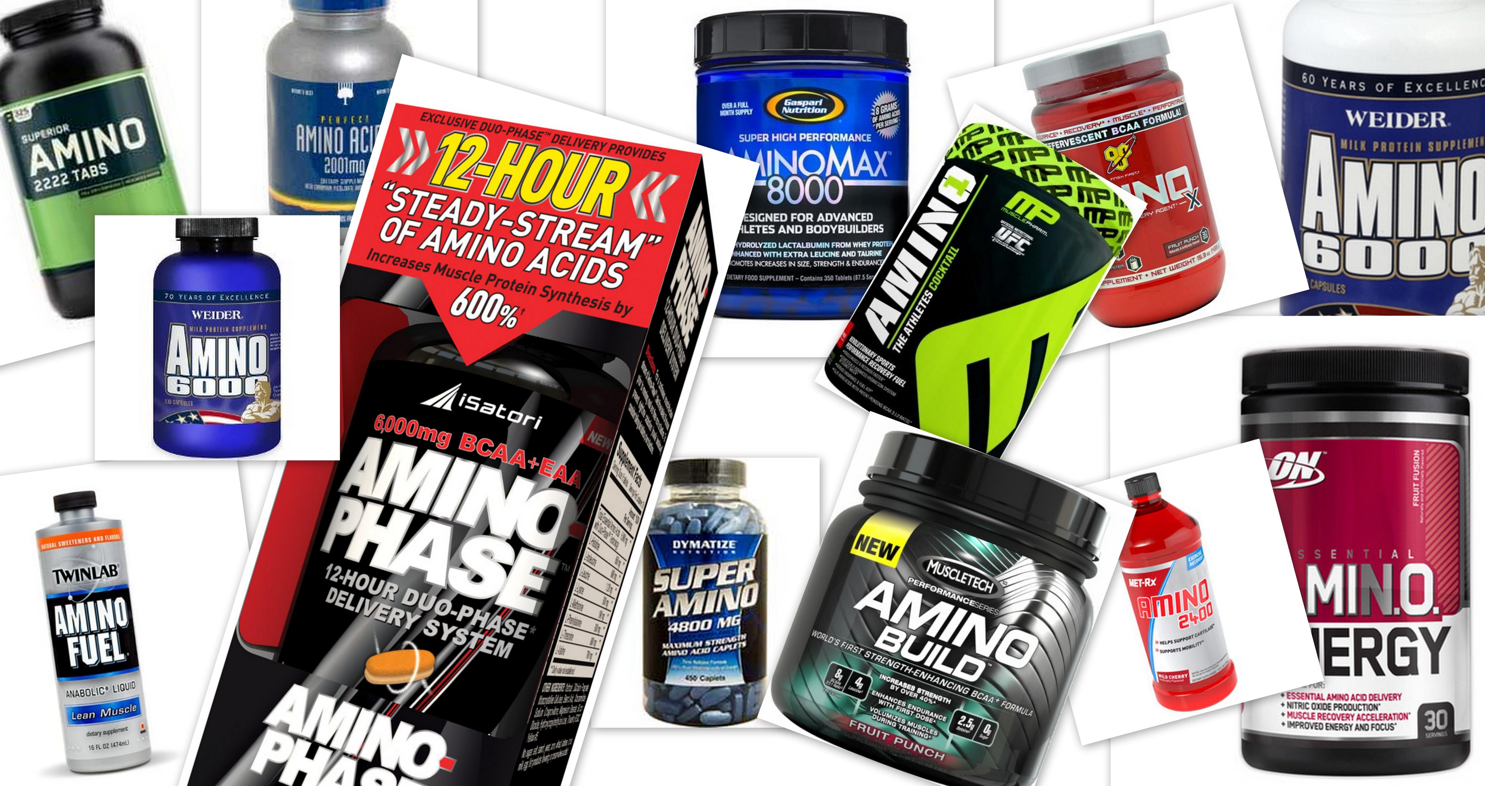Amino Supplemente in unterschiedlichen Formen