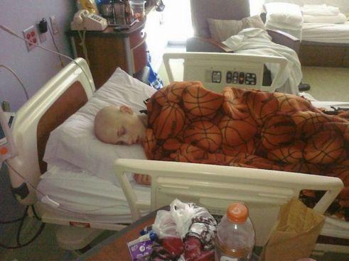 Zach Zeiler während seiner Zeit der Chemo-Therapie.