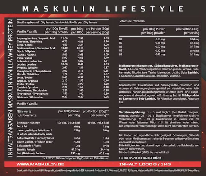 maskulin-protein-supplement-facts