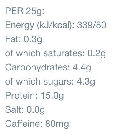 MyProtein Protein Hot Latte Nährwerte