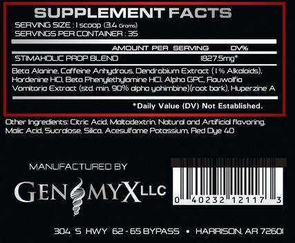 genomyx-stimaholic-inhaltsstoffe