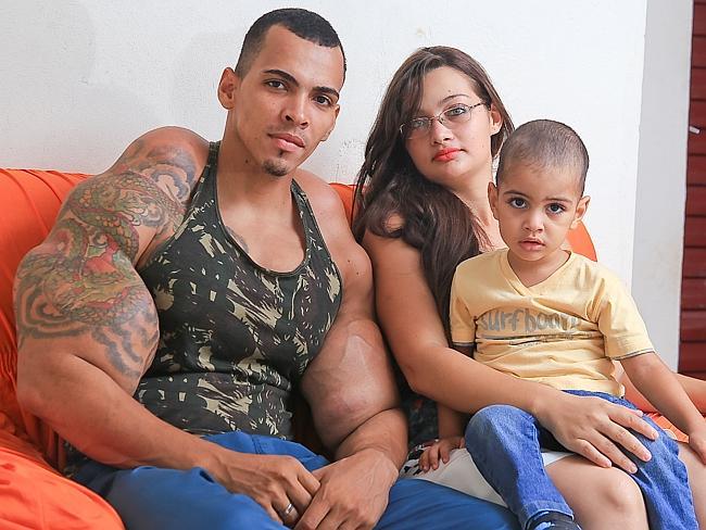 Der Brasilianer mit seiner Familie.