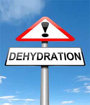 Dehydration sollte auf Dauer definitiv nicht angestrebt werden.