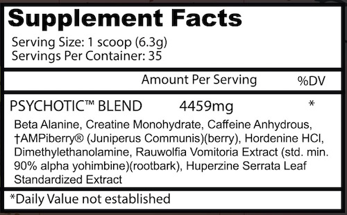 insane-labz-psychotic-supplement-facts
