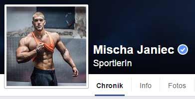 Mischas aktuelles Facebook Profil.