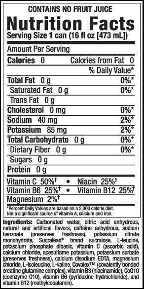 Mother Sugar Free Energy Drink Ingredients