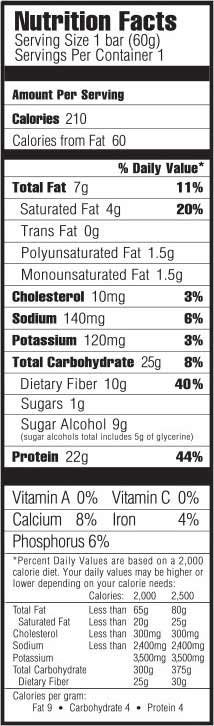 Nutrition Facts Im Detail Oh Yeah Bringt Chocolate Birthday Cake Flavour Fuer