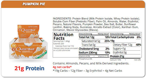 quest-pumpkin-pie-quest-bar-nutrition-facts