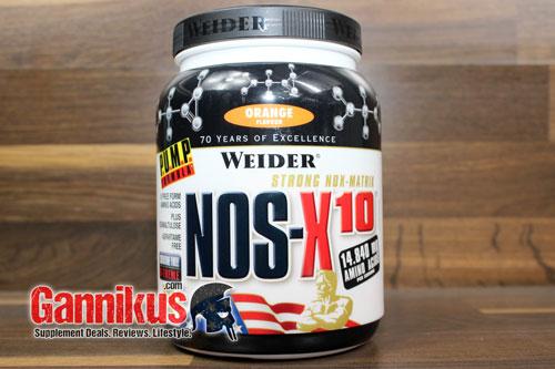 In einer Dose Weider NOS-X10 sind 908g enthalten. Leider ist der Inhalt wenig sinnvoll.