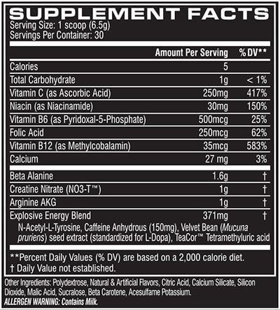 cellucor-c4-supplement-facts