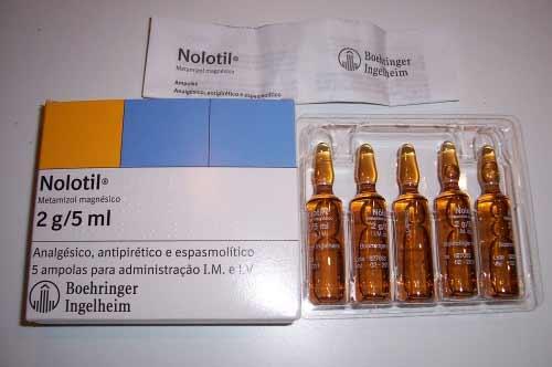 Nolotil gibt es in Ampullen zu je 5ml.