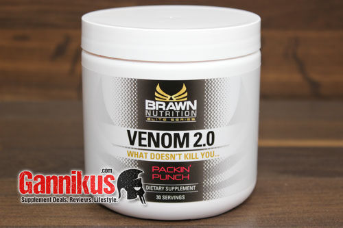 Der Hardcore Booster Brawn Nutrition Venom 2.0 enthält nun DMHA.