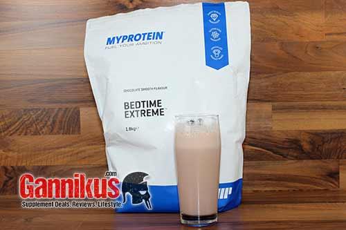 Geschmacklich kann das MyProtein Bedtime Extreme überzeugen und auch die Löslichkeit ist sehr gut.
