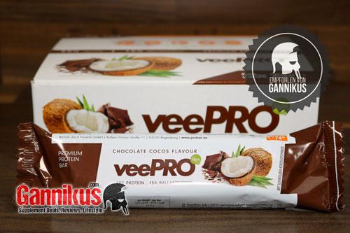 Wer sich vegan ernährt und einen leckeren Eiweiß-Riegel sucht, macht mit dem Profuel veePro nichts falsch.
