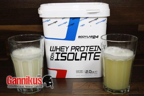 Geschmacklich ist das Bodylab24 Whey Protein Isolat gut.
