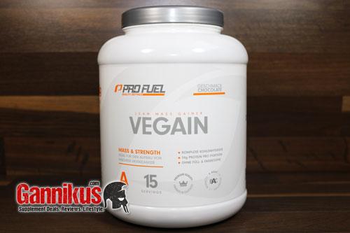 Der Weight Gainer Profuel Vegain eignet sich speziell für Menschen die sich vegan ernähren.