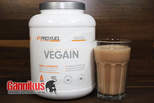 Profuel Vegain schmeckt nicht sehr intensiv und sehr natürlich.