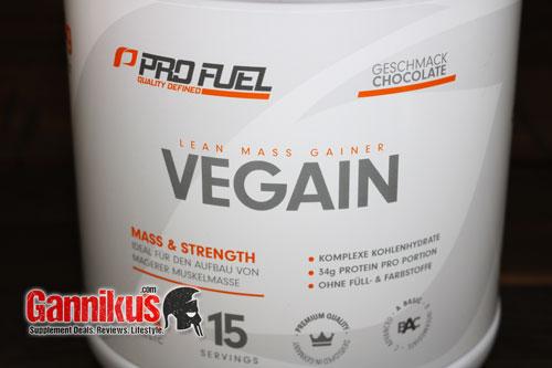 Wir würden den veganen Weight Gainer Profuel Vegain als gut bezeichnen.