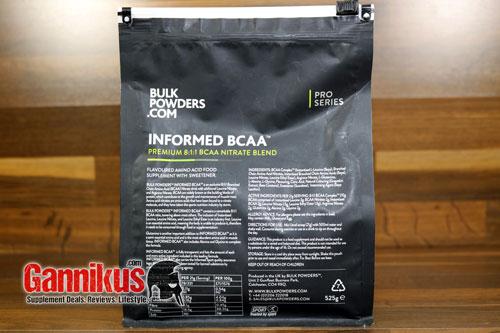Bulkpowders Informed BCAA Inhaltsstoffe