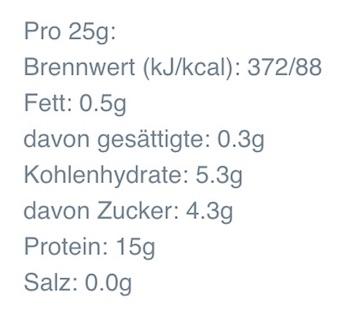 MyProtein Protein Hot Chocolate Nährwerte