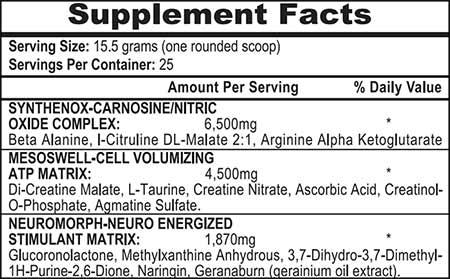 APS Mesomorph Inhaltsstoffe