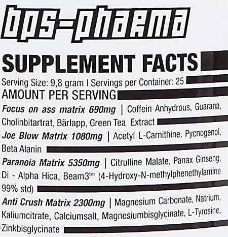 BPS Pharma CATZKILL Inhaltsstoffe