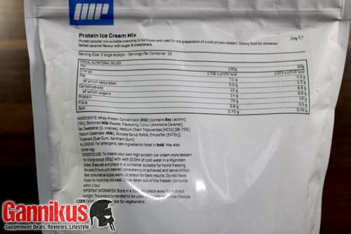 Myprotein Protein Ice Cream Mix Nährwerte