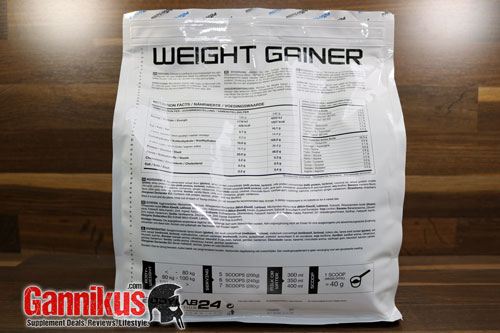 Bodylab24 Weight Gainer Nährwerte