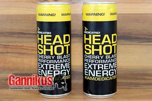 Dedicated Headshot Energy Drink Verpackung