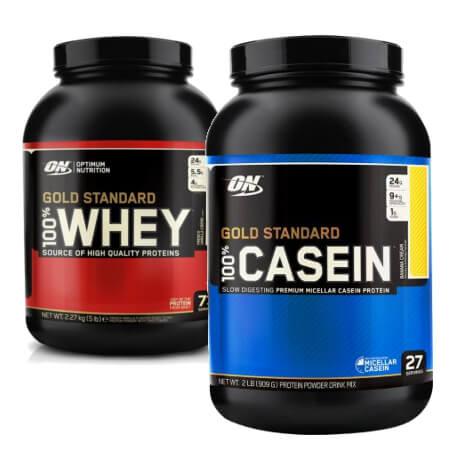 Proteinpulver Casein Whey Kombination