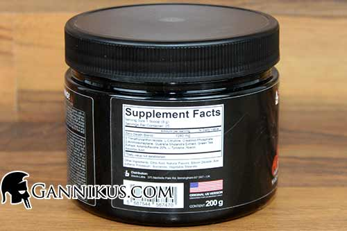 Blackline Suizide Zero Supplement Facts