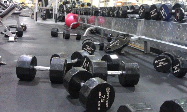 Gewichte wieder wegräumen