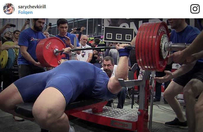 Kirill Sarychev Bankdrücken