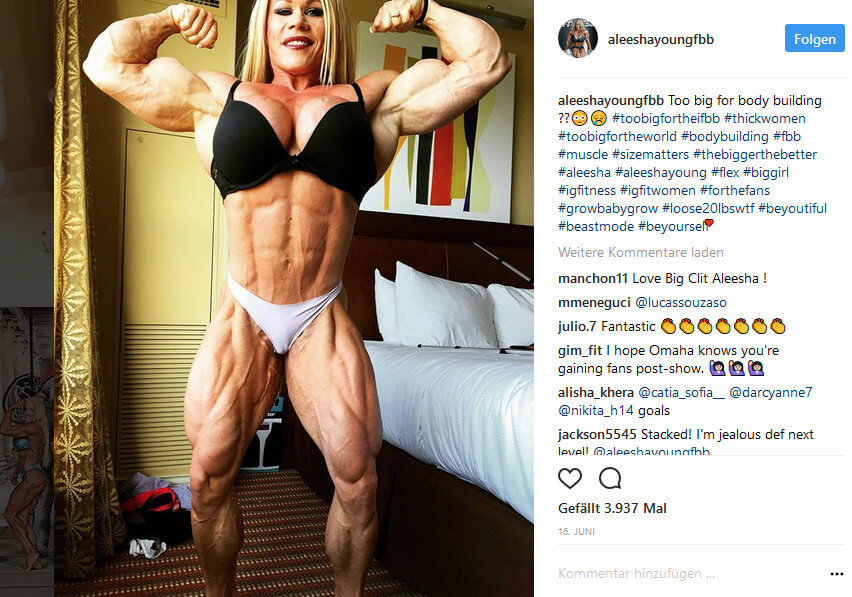 Aleesha Young Bodybuilderin