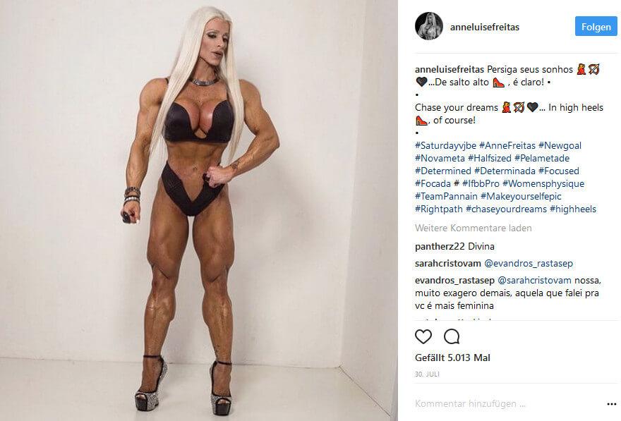 Anne Freitas Bodybuilderin