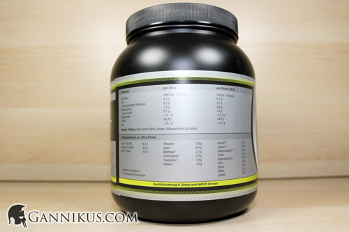 Supplement Union WPG-85 Whey Granulat Nährwerte