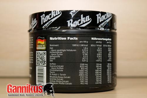 Rocka Nutrition Work Hard Erfahrung