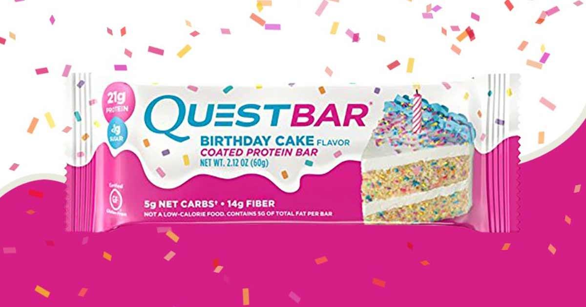 Quest Nutrition Bringt Birthday Cake Bar