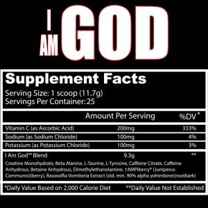 Inhaltsstoffe von Insane Labz I Am God.