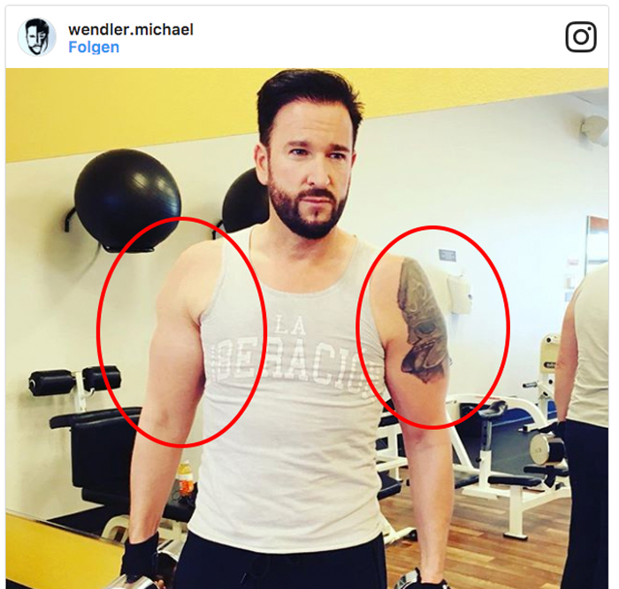 """Michael Wendler: """"Mucki-Fotos"""" Von Michael Wendler Gephotoshopped"""
