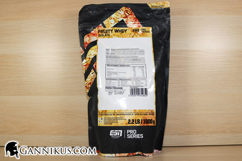 ESN Fruity Whey Isolate Supplement Facts