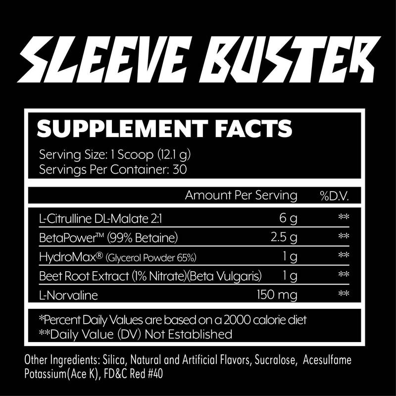 Iron Addicts Sleeve Buster Supplement Facts