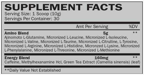 Hi-Tech Pharmaceuticals Off the Chain Aminos Supplement Facts