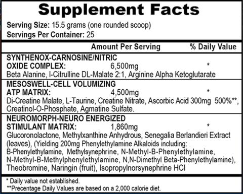 APS Nutrition Mesomorph Nährwerte