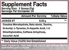 SE Nutrition Jacked XT Nährwerte