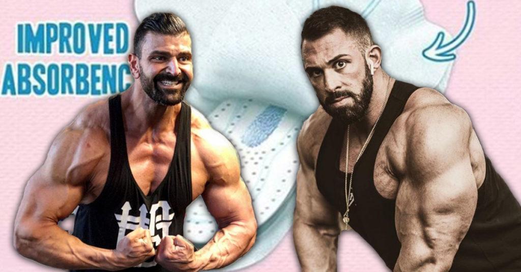 Always Ultra: Hardgainer machen Werbung für Männer-Binden
