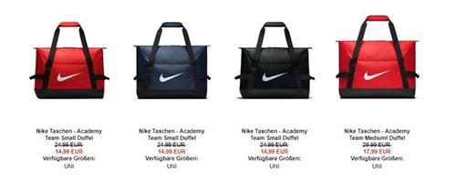 08ab7ef9243b4 Bei my-sportswear.de bekommt Ihr aktuell verschiedenen Nike Academy Team  Duffel Tasche ab 14