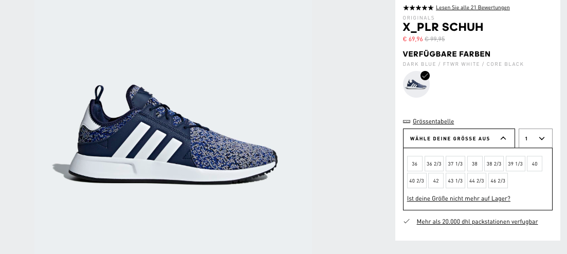 uk availability 536ac e841f X 96€ Für Online Schuh plr 95 Statt Shop 69 99 Adidas E6gxq0