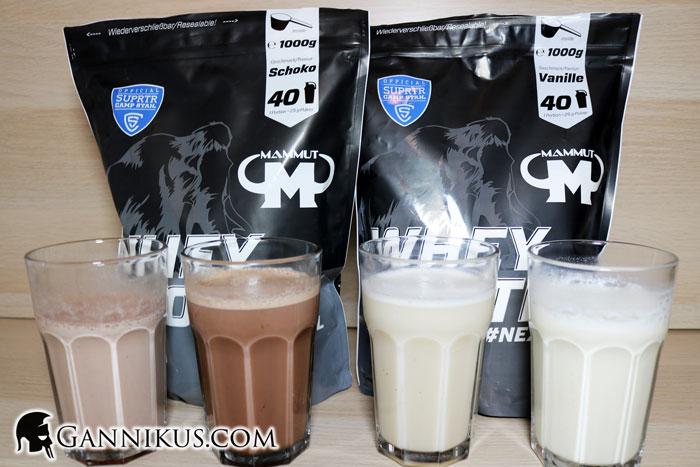Mammut Nutrition Whey Protein Geschmack