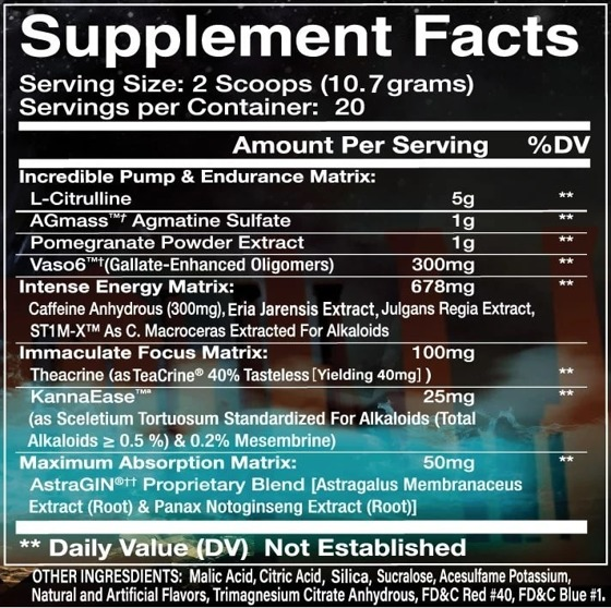 Olympus Labs I AM SUPREM3 Kalorien